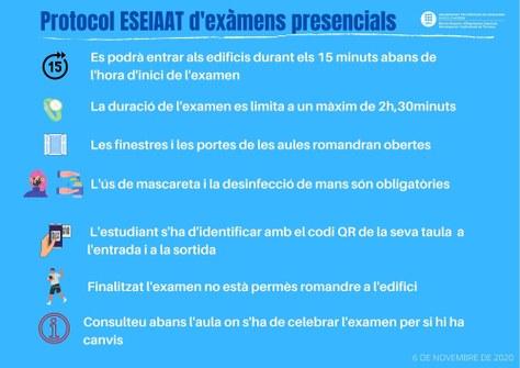 Protocol exàmens parcials ESEIAAT