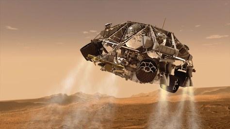El professor de la UPC-ESEIAAT, Miquel Sureda, retransmet en directe, des del CCCB, l'aterratge a Mart del Perseverance