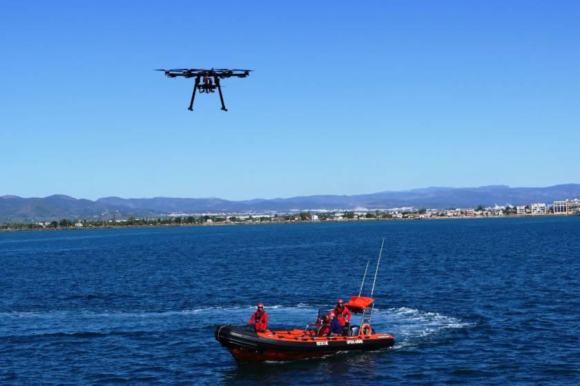 Proves amb el dron del projecte FREEDA a Burriana (Castelló)