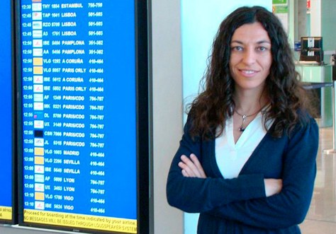 La directora de l'Aeroport de Barcelona, Sònia Corrochano. Foto: AENA