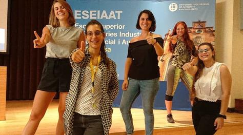 Un equip de dones de la UPC-ESEIAAT dissenya una plantilla per a calçat esportiu que es fabricarà amb residus tèxtils