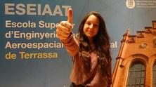Una estudiant de la UPC- ESEIAAT participa en un projecte internacional per generar gravetat artificial a les naus espacials